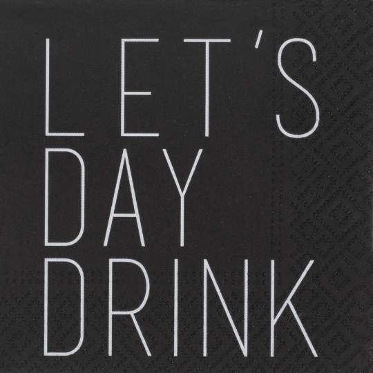 räder - Cocktailserviette Let's day drink, 25 x 25 cm