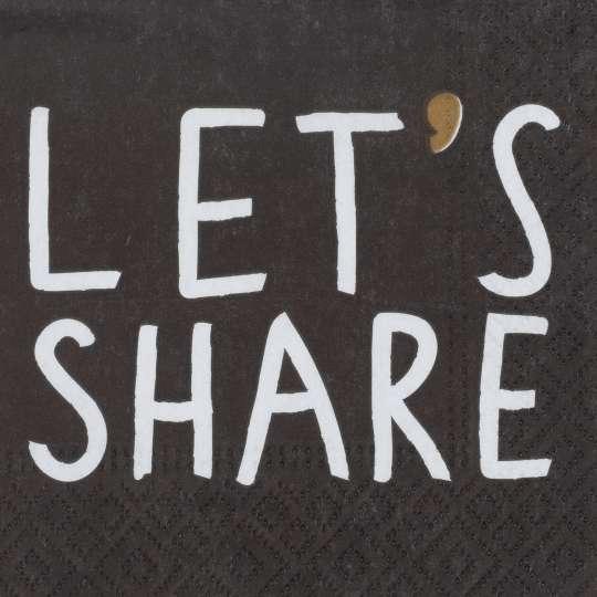 räder - Cocktailserviette Let's share, 25 x 25 cm