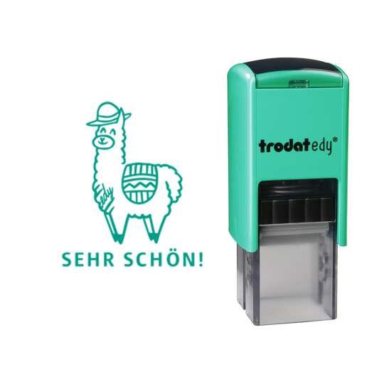 trodat - edy® - Lama - frei mit Abdruck