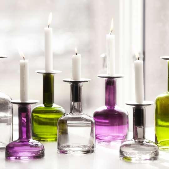 Kerzenhalter mit Doppelfunktion: Mal Leuchter, mal Vase