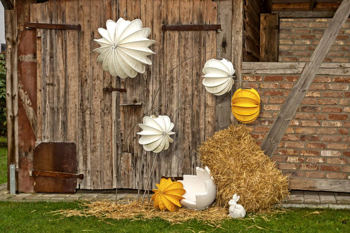 Robuste Outdoor-Lampions / Ostern Tag /  Mood 1