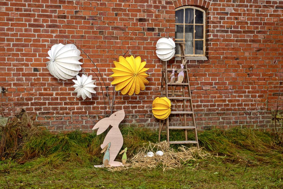 Robuste Outdoor-Lampions / Osterhase Tag /  Mood 4