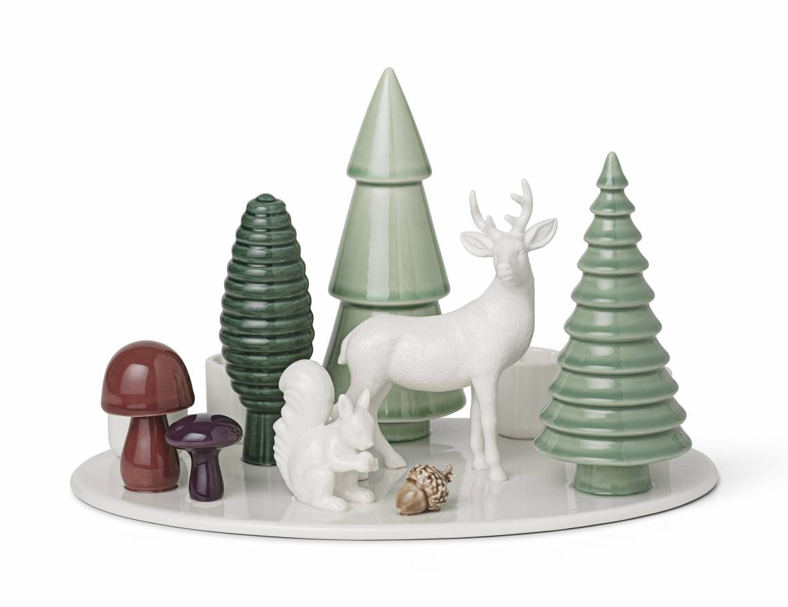 Dottir: Winter Stories Woodland Advent candlestick
