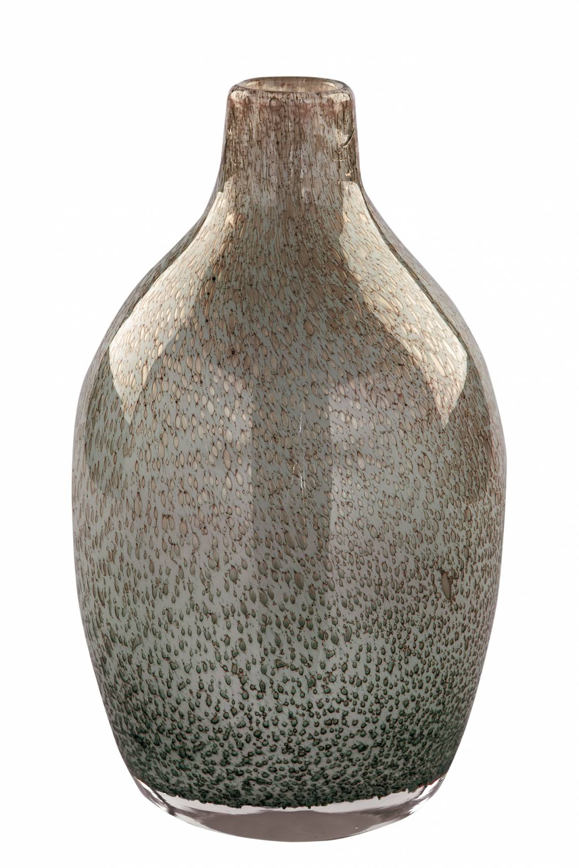 Fink Living SILVA / Glasvase, mundgeblasen, grau 115118