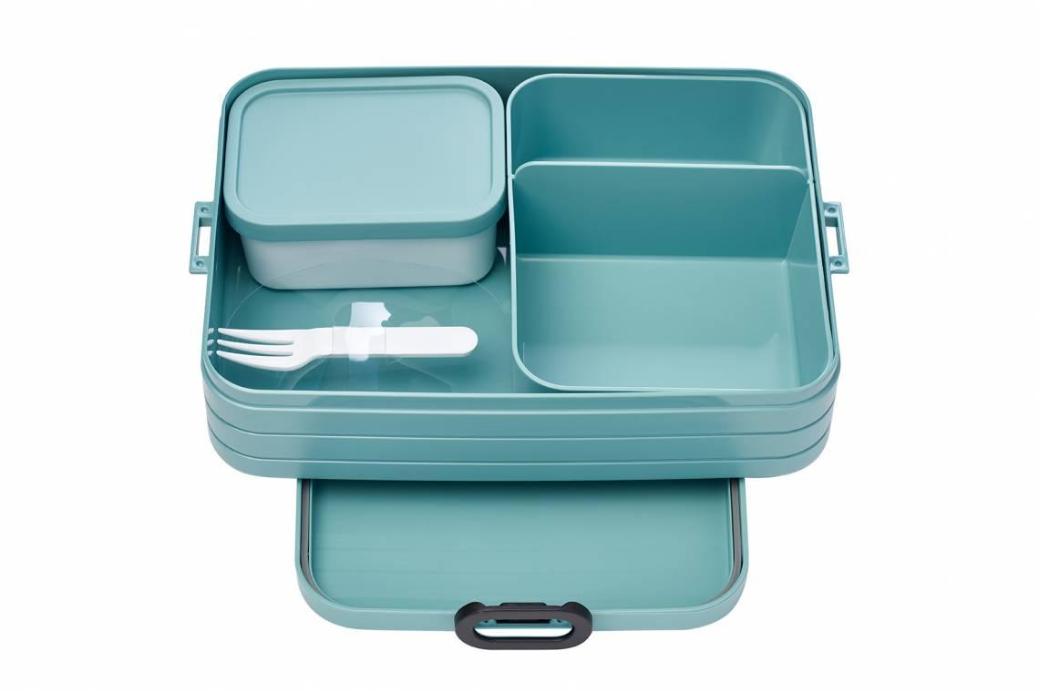 Mepal - To-Go-Range - TAB Lunchbox mit Bento-Einsatz, large nordic green