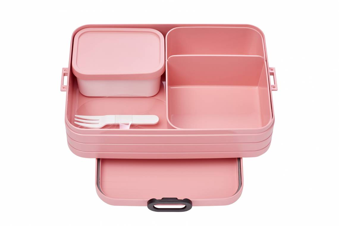 Mepal - To-Go-Range - TAB Lunchbox mit Bento-Einsatz, large nordic pink