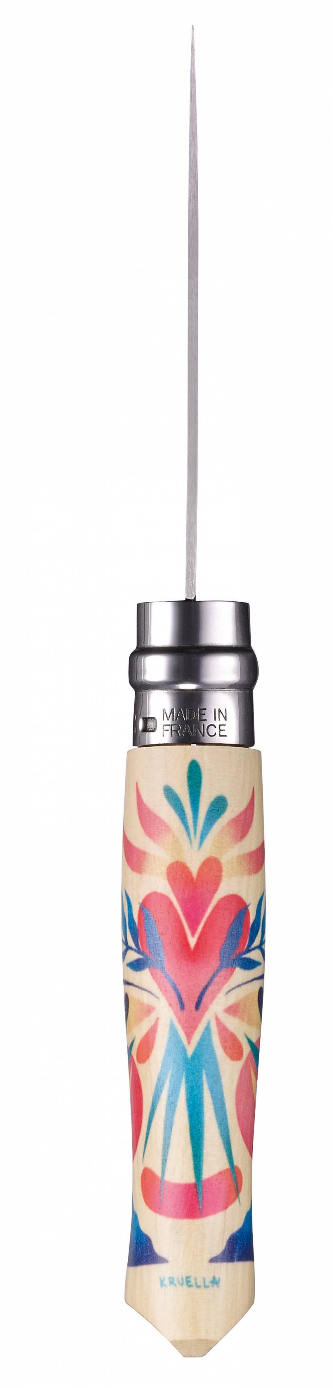 Opinel-Messer mit ganz viel Liebe: Serie Edition Amour / Design Kruella d'Enfer / Messerrücken