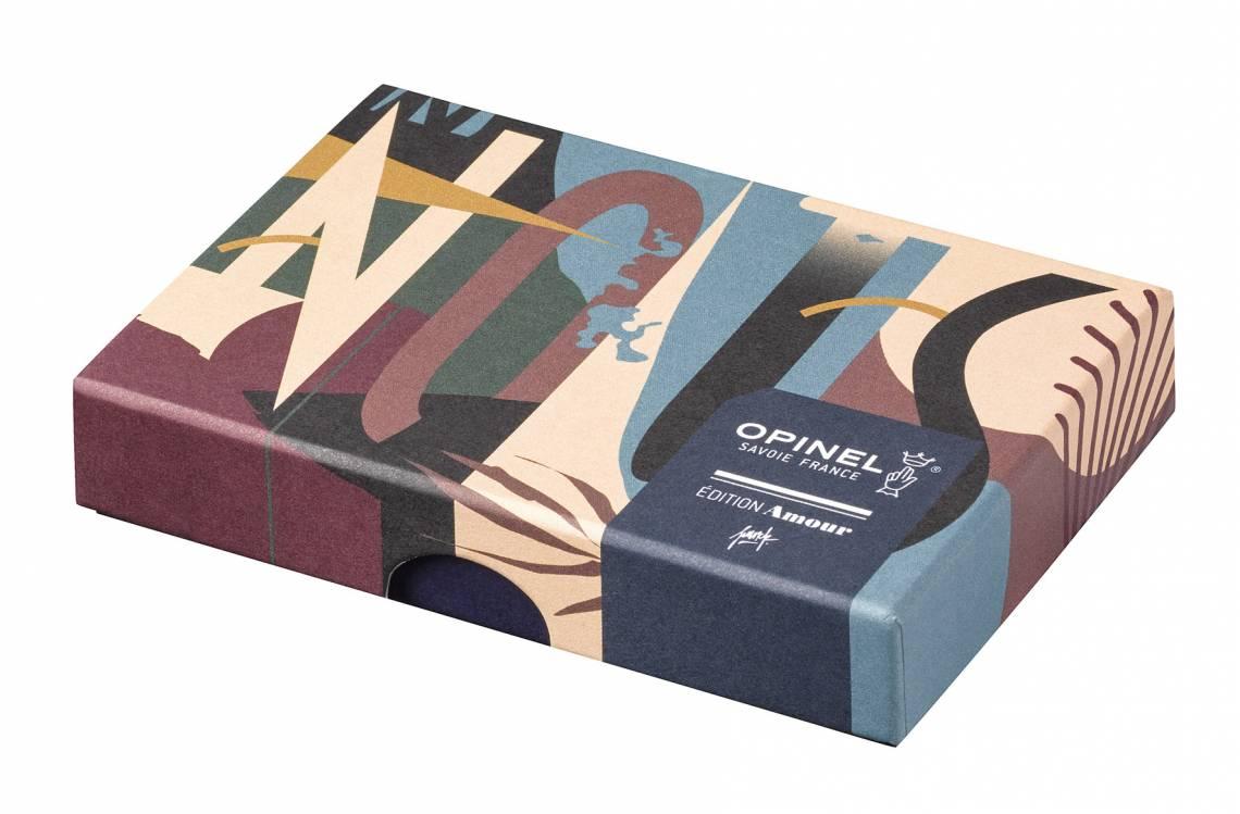 Opinel-Messer mit ganz viel Liebe: Serie Edition Amour / Design Pellegrino / Verpackung geschlossen