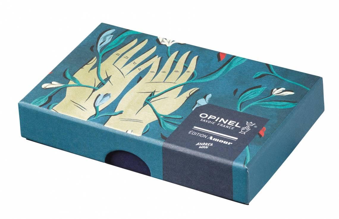 Opinel-Messer mit ganz viel Liebe: Serie Edition Amour / Design Wan / Verpackung geschlossen