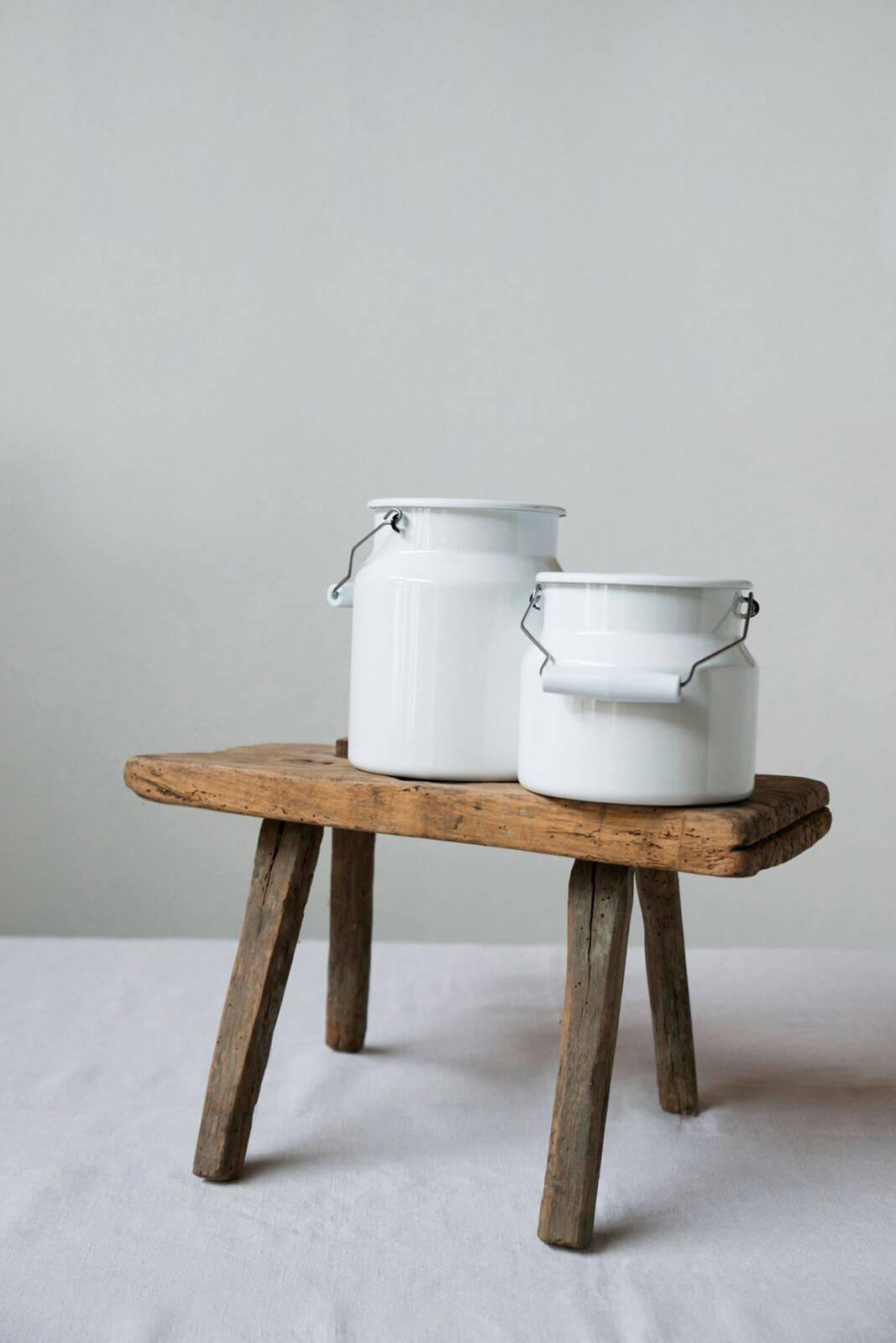 Riess Classic Weiß Milchkannen Ambiente