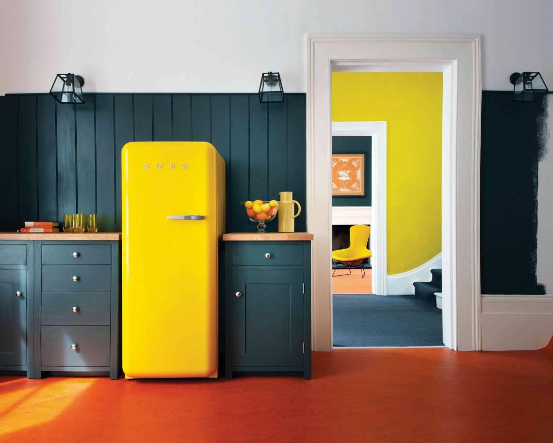 Smeg Kühlschrank A : Smeg kühlschrank sonnengelb mood trendxpress