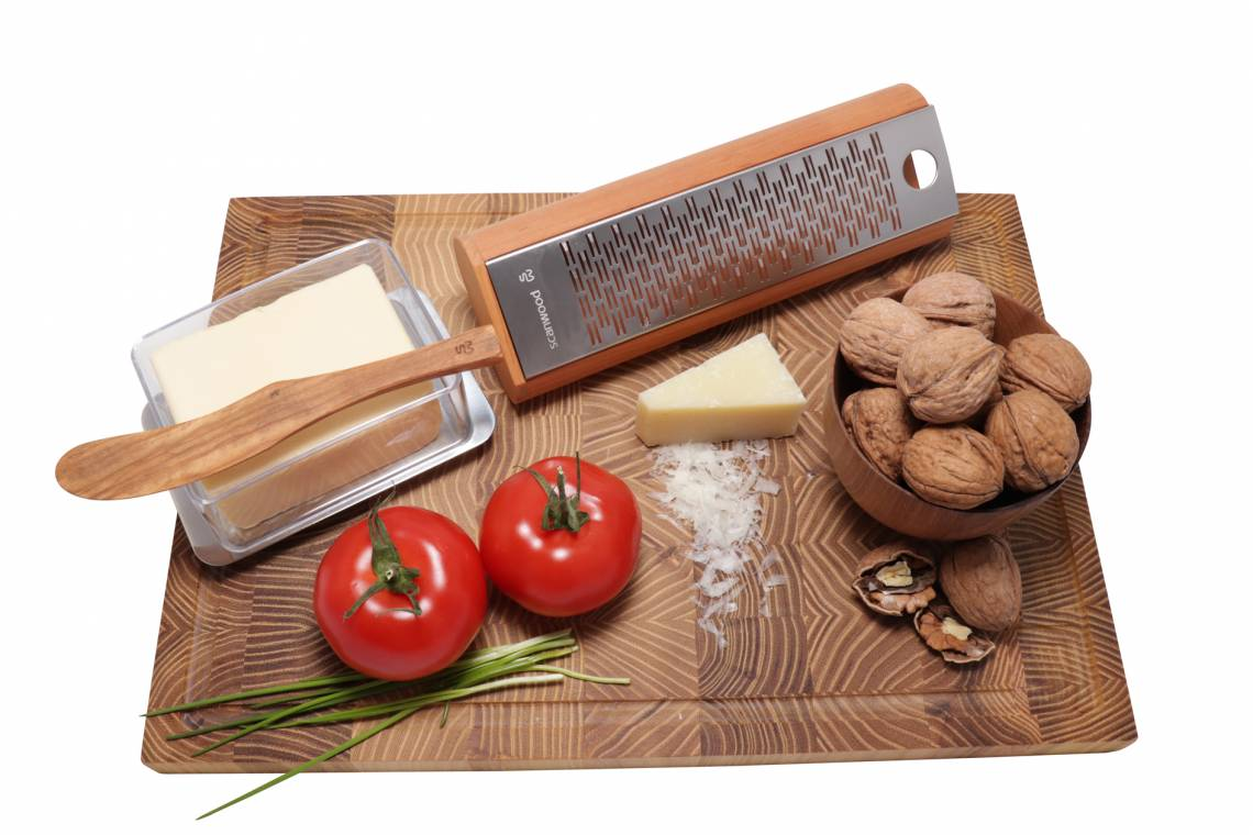 Scanwood Küchenholz - Käsereibe - mit Deko