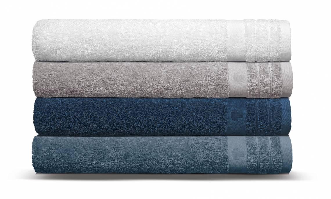 Tom Tailor UNI BASIC TOWEL / 4er_Duschtuchstapel_blau_HW18