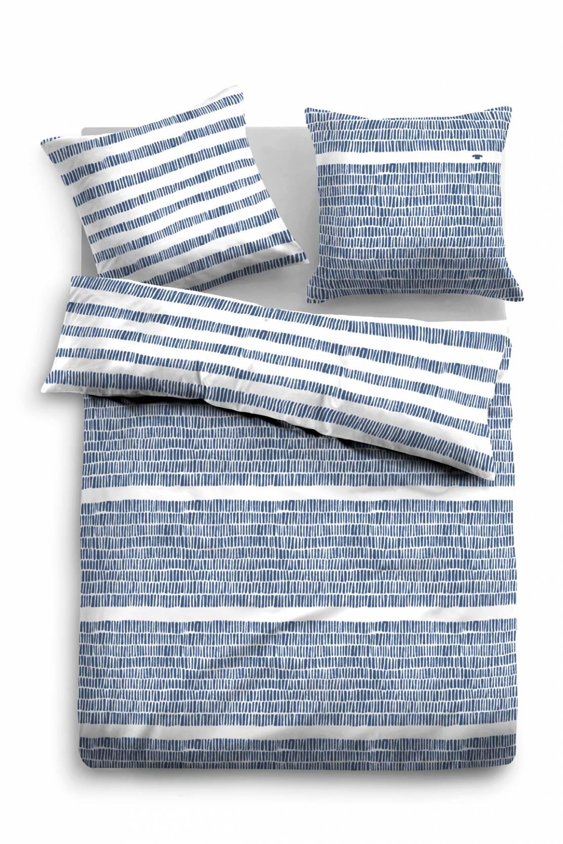 Tom TAILOR - Satin-Wendebettwäsche blue