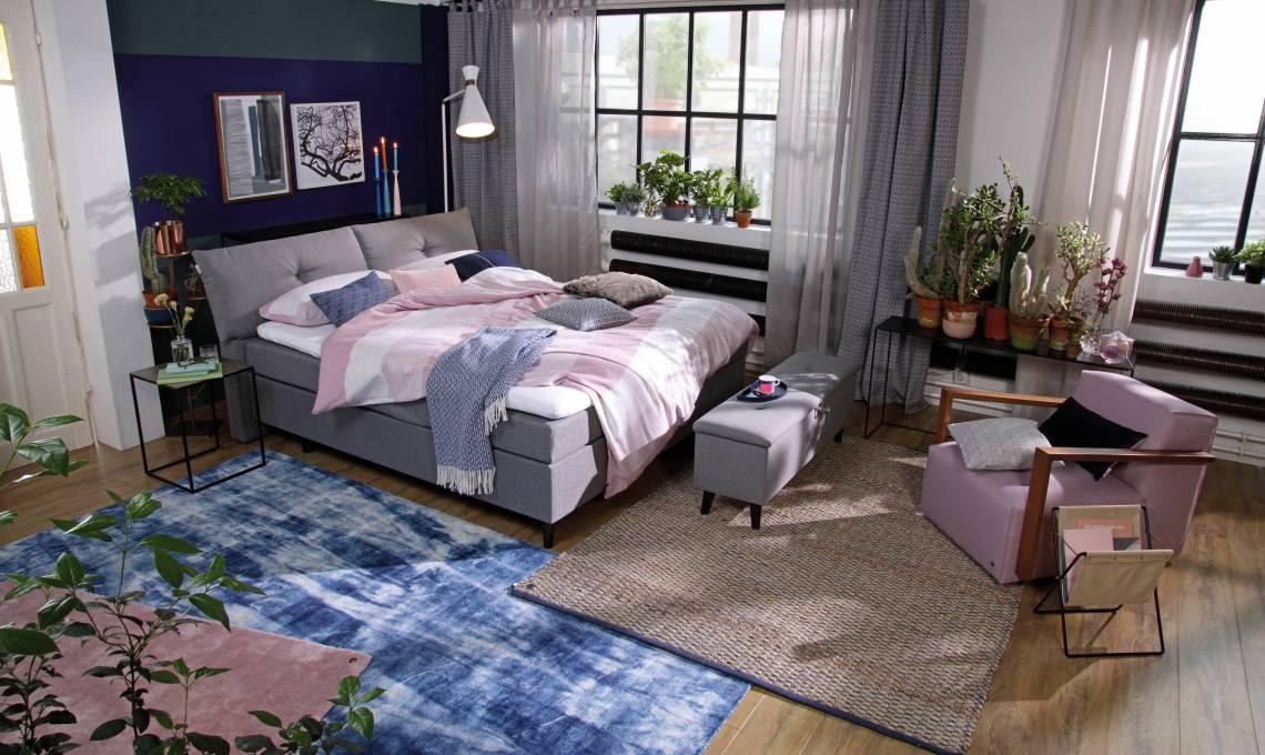 tom tailor pillow box boxspringbett trendxpress. Black Bedroom Furniture Sets. Home Design Ideas