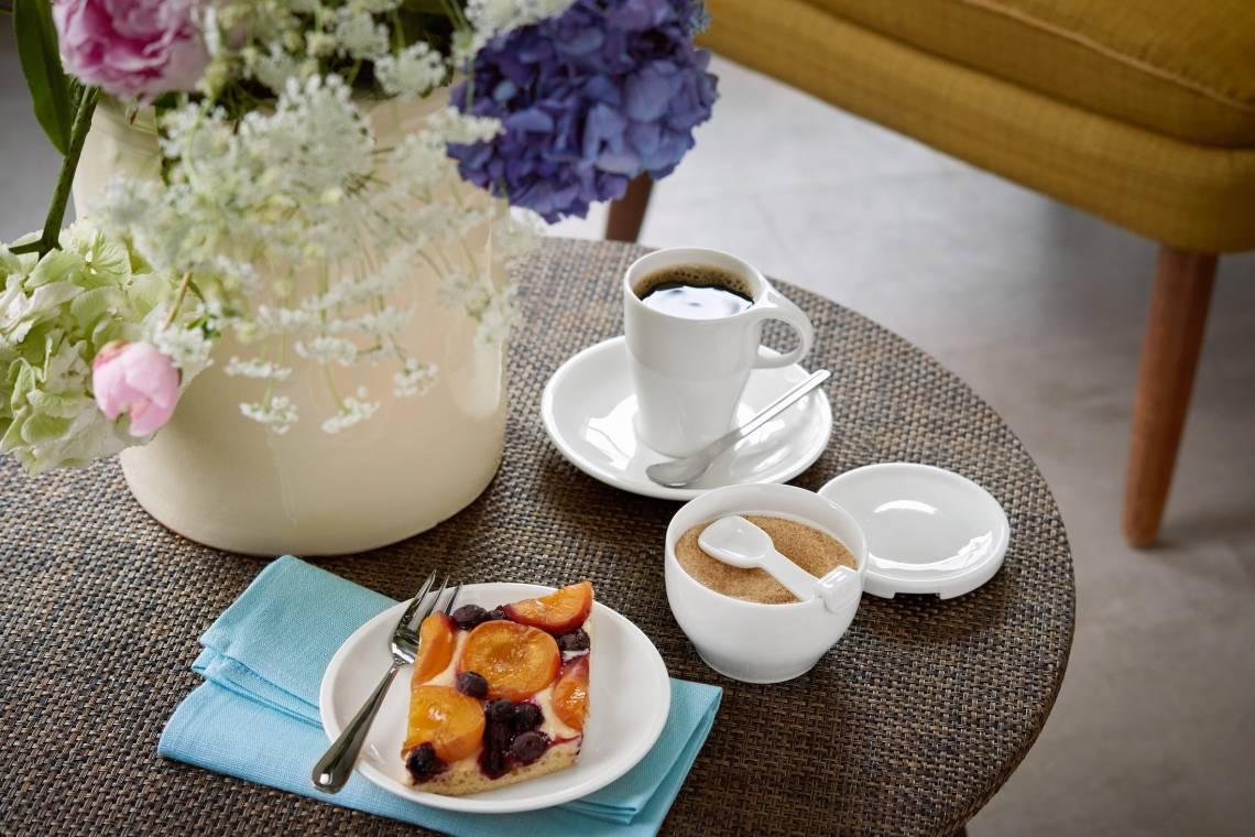 Villeroy und Boch Coffee Passion Kaffeebecher und Zuckerdose Milieu