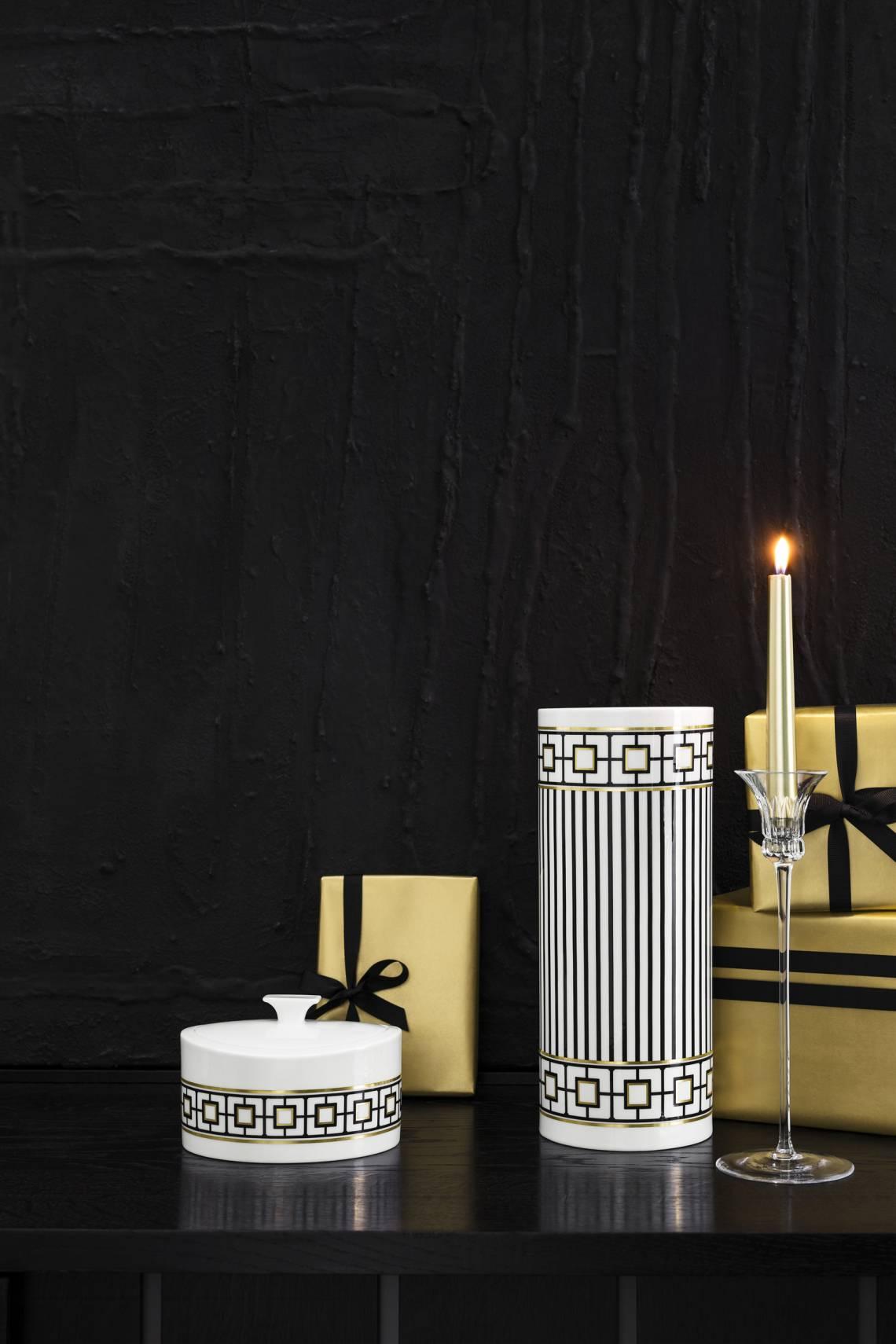 MetroChic Vase mit Kerze