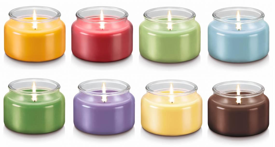 Duftkerze 'Fancy Home' klein. Alle acht Farben & Duftvarianten