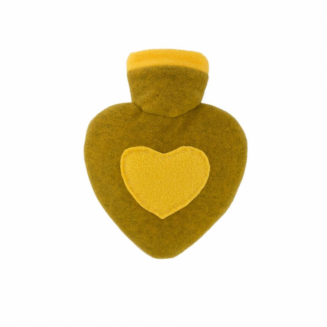 Hugo-Frosch Wärmflasche Herz mit Strickbezug Filzoptik Grapefruit-melange 0202