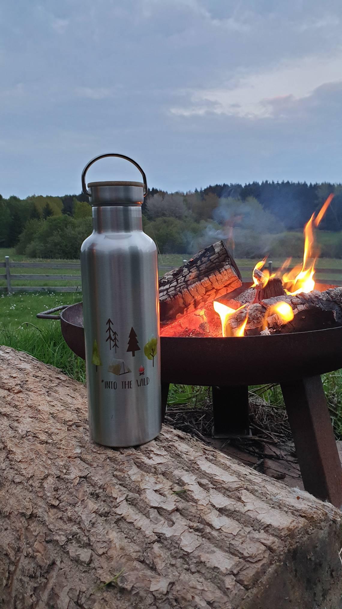 ppd Stainless Steel Bottles - Stimmungsbild Lagerfeuer