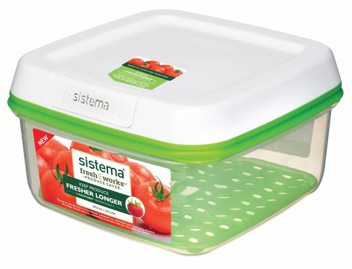 sistema - Frische-Boxen FreshWorks - ideal für Tomaten