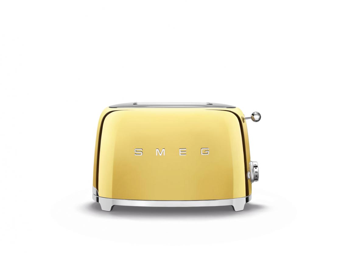 smeg: Luxuriöse Sondereditionen - Toaster Gold, TSF01GOEU