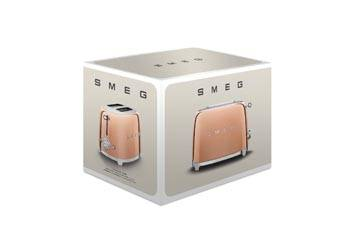smeg: Luxuriöse Sondereditionen - Toaster Rosegold, TSF01RGEU, Verpackung