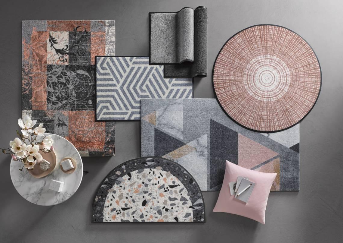 wash+dry - Kollektion 2020: Fußmatten in schönen Pastelltönen