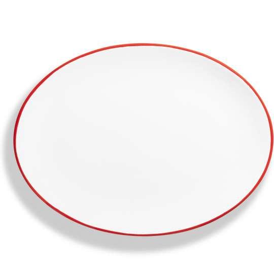 """Design """"Rubinroter Rand"""" - Platte oval"""
