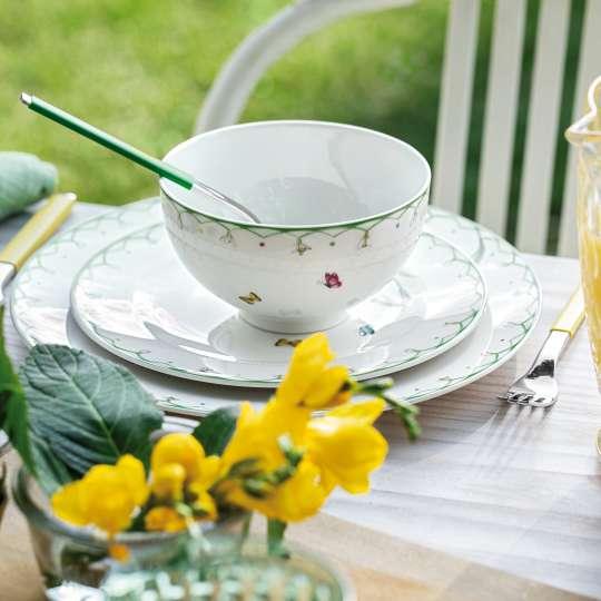 Villeroy und Boch -colourful spring; Porzellantasse mit Tellern
