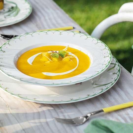 Villeroy und Boch -colourful spring; Suppenteller mit Suppe