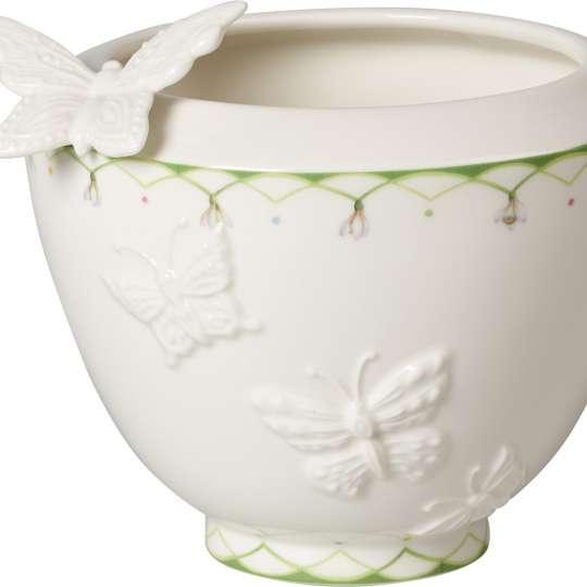 Villeroy und Boch -colourful spring; vase mit Schmetterlingsdetail