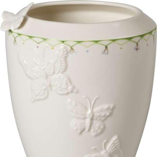 Villeroy und Boch -colourful spring; hohe Vase mit Schmetterlingsdetail