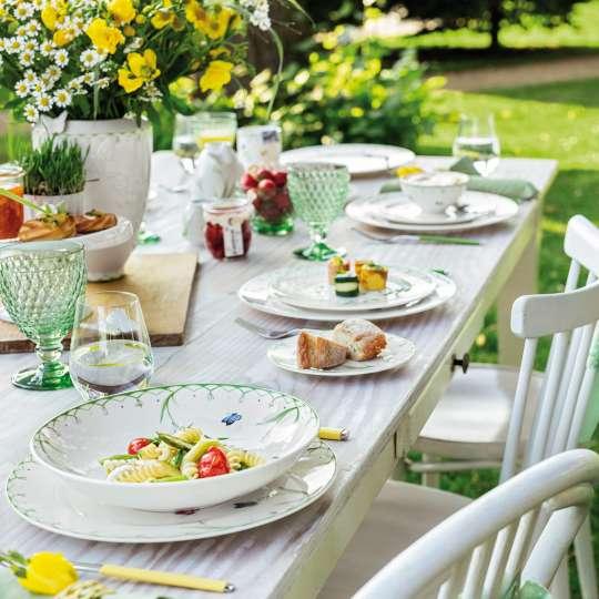 Villeroy und Boch -colourful spring; Frühlingsporzellan mit SnacksVilleroy und Boch -colourful spring; Frühlingsporzellan mit Snacks