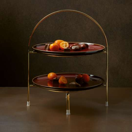ASA Rusty-Red Etagere-gold