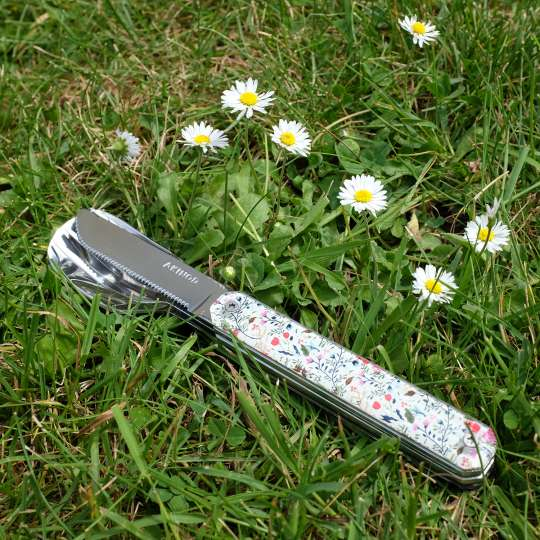 AKINOD 12H34 mobiles Besteck Motiv Blumenwiese