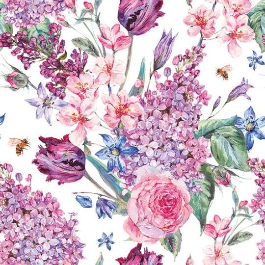 Ambiente Europe Flower Composition Servietten white