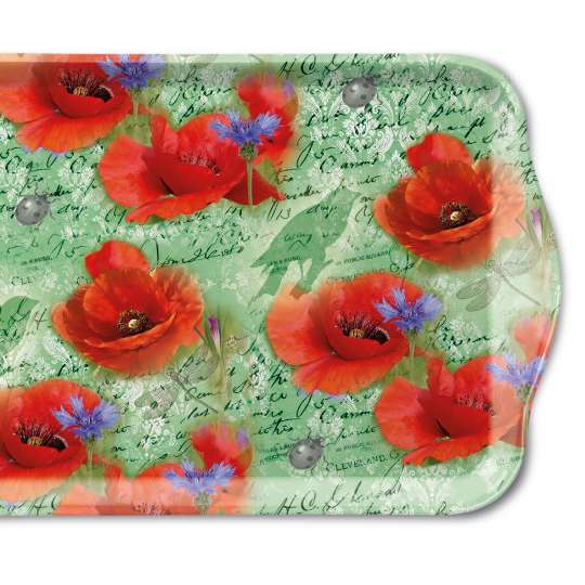 Ambiente: Painted Poppies Tablett klein