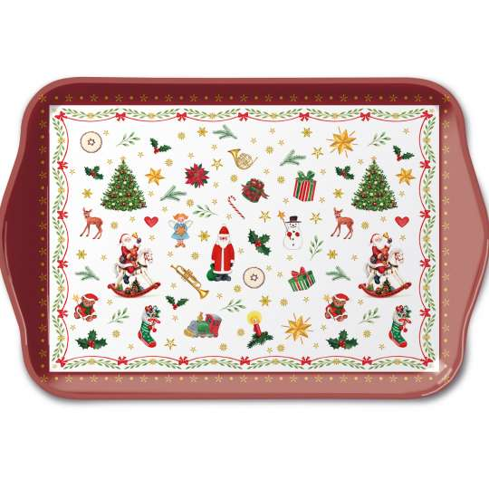 "Ambiete Europe ""Christmas All Over"" Tray klein"