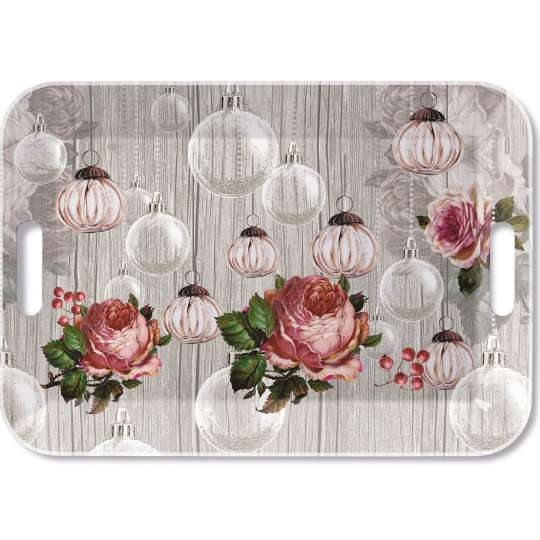 Roses and Baubles - Tablett, 33 x 47 cm von Ambiente