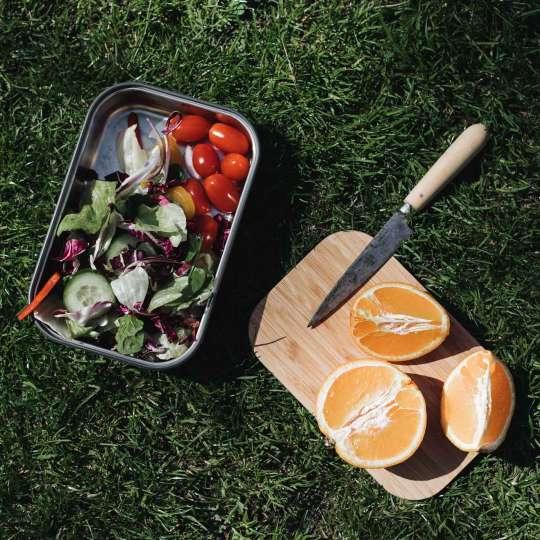 Black und Blum Edelstahl Sandwichbox mit Bambusdeckel Mood