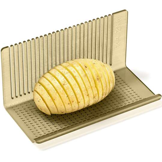Betty Bossi : Hasselback Potato Tool / mit Kartoffel