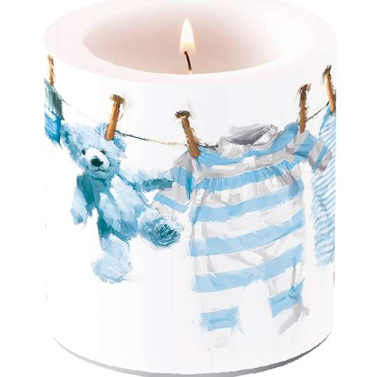 baby boy clothes candle - Baby Kleidung Kerze Jungs
