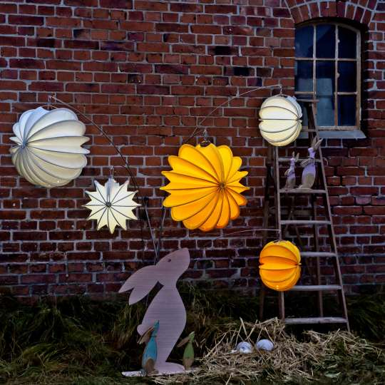 Robuste Outdoor-Lampions / Osterhase Abend / Mood 1