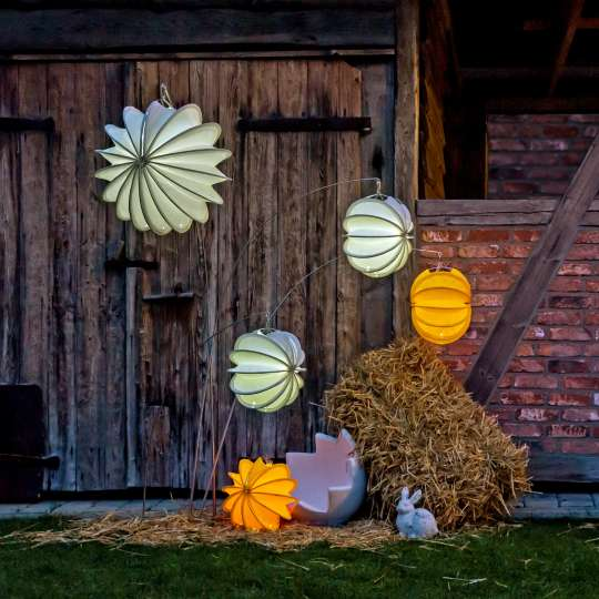 Robuste Outdoor-Lampions / Osterhase Abend / Mood 3