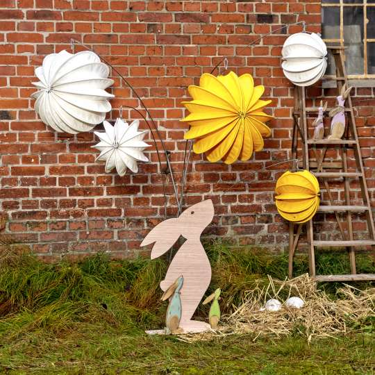 Robuste Outdoor-Lampions / Osterhase Tag /  Mood 3
