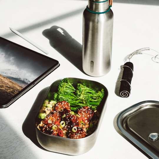 black+blum Edelstahl-Lunchbox mit Isolierflasche