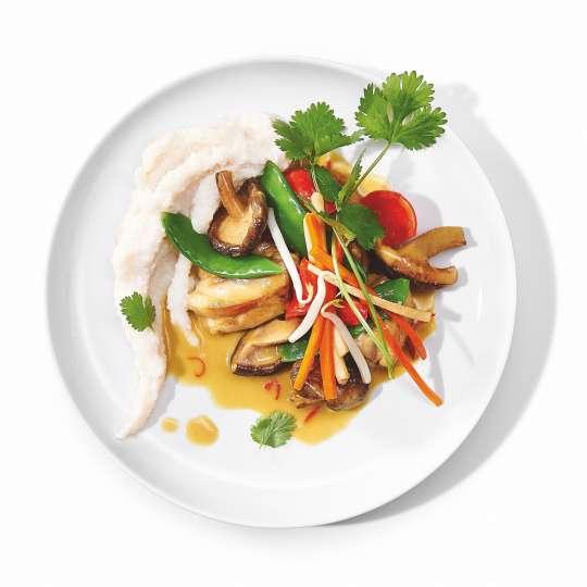 Curry vom Schwarzfederhuhn