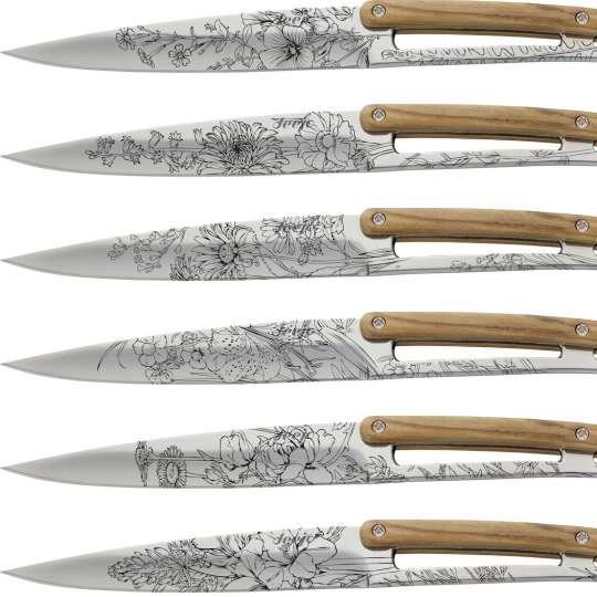 Deejo Steakmesser Blossom 6er