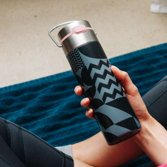 Eigenart: Trinkflasche - Dekor 'Bauhaus' / Mood Yoga 2